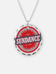 Sundance Ski Resort Utah Red Necklace