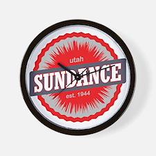 Sundance Ski Resort Utah Red Wall Clock