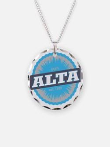 Alta Ski Resort Utah Sky Blu Necklace