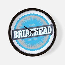 Brian Head Ski Resort Utah Sky Blue Wall Clock