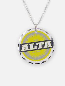 Alta Ski Resort Utah Yellow Necklace
