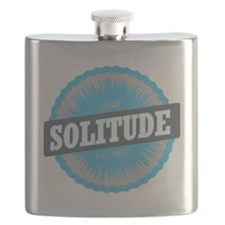 Solitude Ski Resort Utah Sky Blue Flask