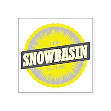 "Snowbasin Ski Resort Utah Y Square Sticker 3"" x 3"""