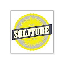 "Solitude Ski Resort Utah Ye Square Sticker 3"" x 3"""