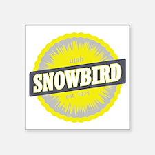 "Snowbird Ski Resort Utah Ye Square Sticker 3"" x 3"""