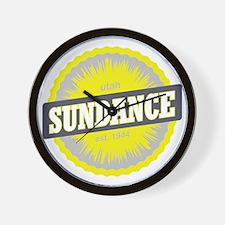 Sundance Ski Resort Utah Yellow Wall Clock