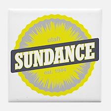 Sundance Ski Resort Utah Yellow Tile Coaster