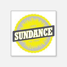 "Sundance Ski Resort Utah Ye Square Sticker 3"" x 3"""