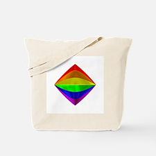 METALLIC RAINBOW TILTED BOX Tote Bag