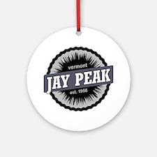 Jay Peak Ski Resort Vermont Black Round Ornament