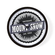 Mount Snow Ski Resort Vermont Black Wall Clock
