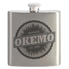 Okemo Mountain Ski Resort Vermont Black Flask