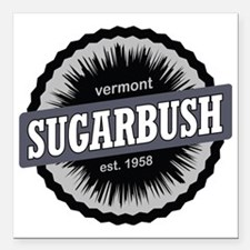 "Sugarbush Resort Ski Res Square Car Magnet 3"" x 3"""