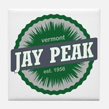 Jay Peak Ski Resort Vermont Dark Gree Tile Coaster