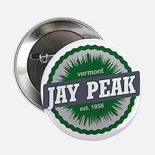 """Jay Peak Ski Resort Vermont Dark Gree 2.25"""" Button"""