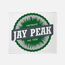 Jay Peak Ski Resort Vermont Dark Gre Throw Blanket