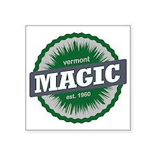 """Magic Mountain Ski Resort V Square Sticker 3"""" x 3"""""""