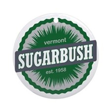 Sugarbush Resort Ski Resort Vermont Round Ornament