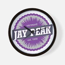 Jay Peak Ski Resort Vermont Purple Wall Clock
