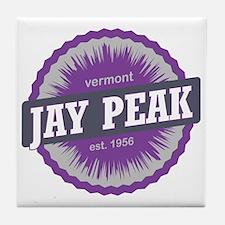 Jay Peak Ski Resort Vermont Purple Tile Coaster