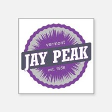 "Jay Peak Ski Resort Vermont Square Sticker 3"" x 3"""