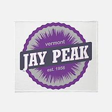Jay Peak Ski Resort Vermont Purple Throw Blanket