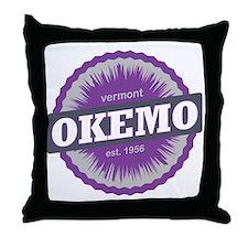 Okemo Mountain Ski Resort Vermont Pur Throw Pillow