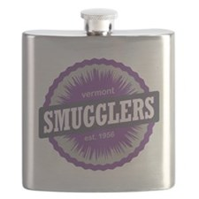 Smugglers Notch Ski Resort Vermont Purple Flask