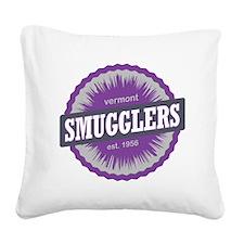Smugglers Notch Ski Resort Ve Square Canvas Pillow