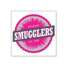 "Smugglers Notch Ski Resort  Square Sticker 3"" x 3"""