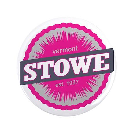 "Stowe Mountain Ski Resort Vermont Pink 3.5"" Button"