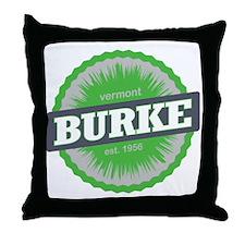 Burke Mountain Ski Resort Vermont Lim Throw Pillow