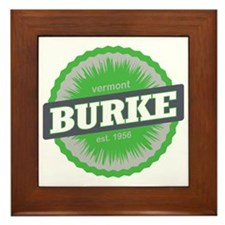 Burke Mountain Ski Resort Vermont Lime Framed Tile