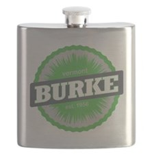 Burke Mountain Ski Resort Vermont Lime Green Flask