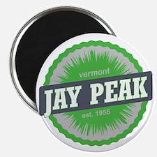 Jay Peak Ski Resort Vermont Lime Green Magnet