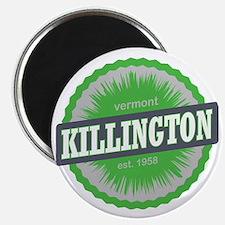Killington Ski Resort Vermont Lime Green Magnet
