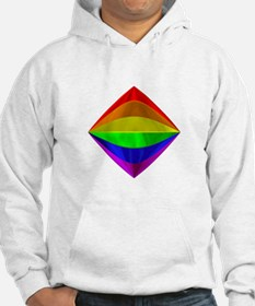 METALLIC RAINBOW TILTED BOX Hoodie