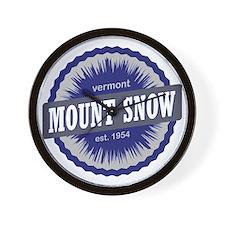 Mount Snow Ski Resort Vermont Navy Blue Wall Clock