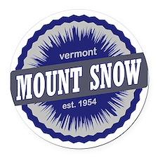 Mount Snow Ski Resort Vermont Nav Round Car Magnet