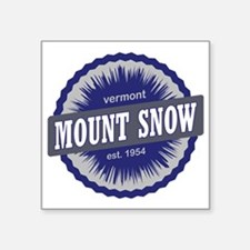 "Mount Snow Ski Resort Vermo Square Sticker 3"" x 3"""