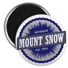 Mount Snow Ski Resort Vermont Navy Blue Magnet