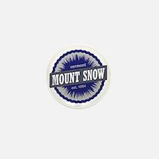 Mount Snow Ski Resort Vermont Navy Blu Mini Button