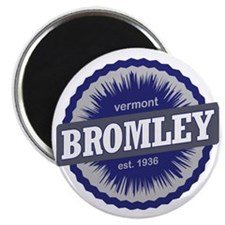 Bromley Mountain Ski Resort Vermont Navy Bl Magnet