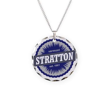 Stratton Mountain Ski Resort Necklace Circle Charm