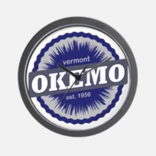Okemo Mountain Ski Resort Vermont Navy  Wall Clock