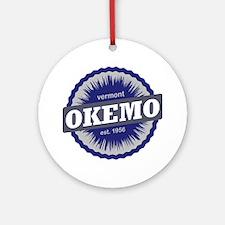 Okemo Mountain Ski Resort Vermont N Round Ornament