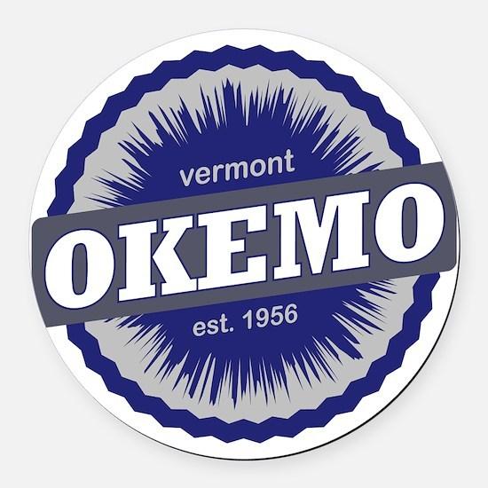 Okemo Mountain Ski Resort Vermont Round Car Magnet