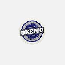 Okemo Mountain Ski Resort Vermont Navy Mini Button