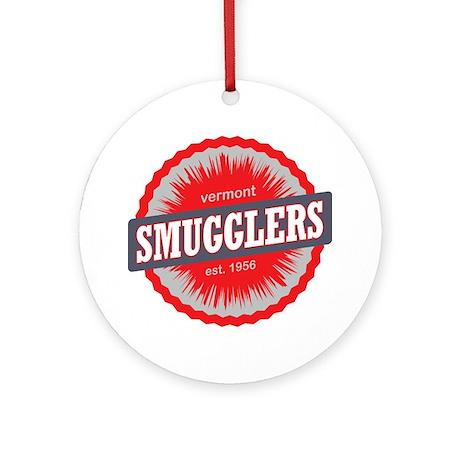 Smugglers Notch Ski Resort Vermont Round Ornament