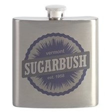 Sugarbush Resort Ski Resort Vermont Navy Blu Flask